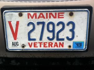 Maine Veteran Plate